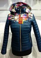 Демисезонная куртка для женщин  ЦВЕТЫ
