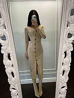 Сукня міді Сорренто красиве жіноче з м'якої замші на гудзиках Smf6549