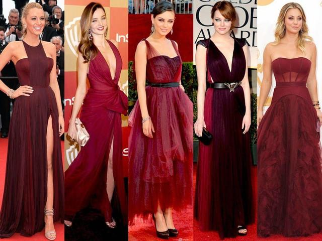 Платья цвета марсала