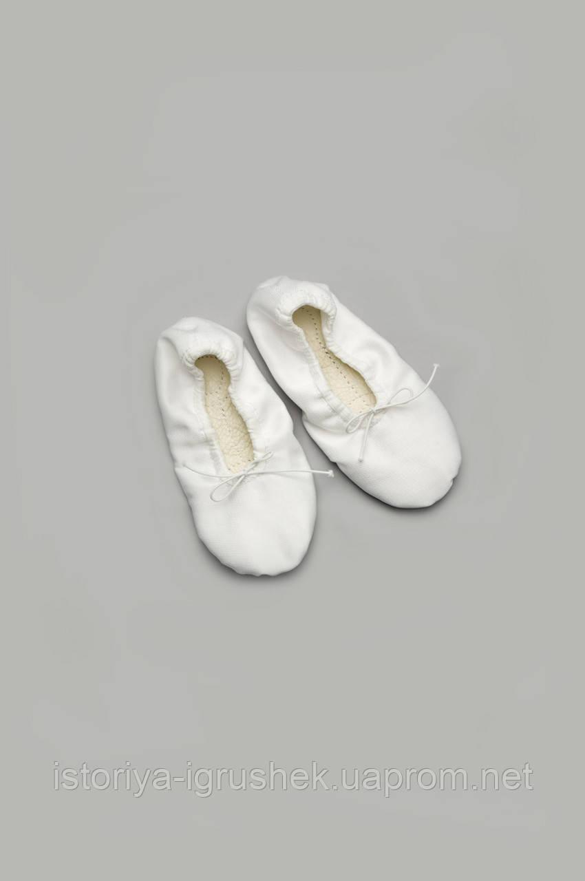 Белые детские балетки для танцев