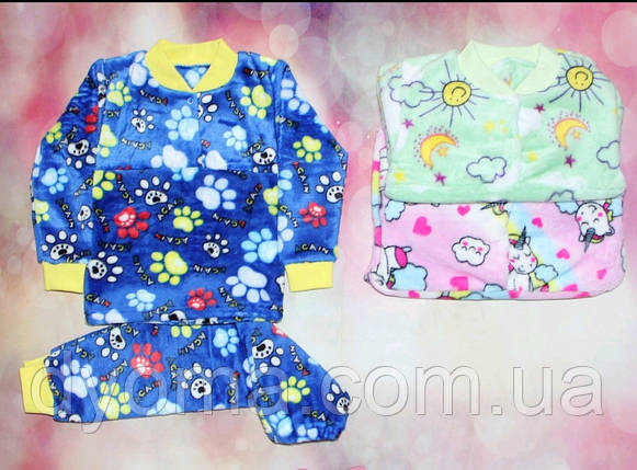 Дитяча махрова піжама для дівчаток і хлопчиків, фото 2
