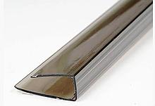 Торцевий профіль  U подыбний 4мм бронза 2.1м