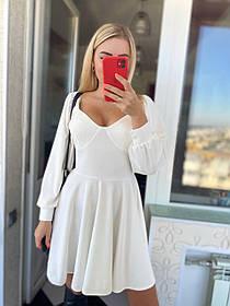 Сукню-Бюстьє з рукавом Білий