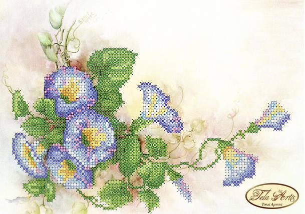 """Рисунок на ткани для вышивания бисером """"Лазурь"""", фото 2"""