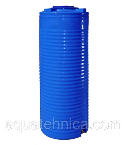 Емкость 200 литров вертикальная - 52 х 118 см узкая Ротоевропласт