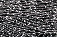 Шнур 5мм с наполнителем (100м) серый + белый