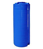 Емкость двухслойная вертикальная 500 литров - 68 х 164 см узкая Ротоевропласт