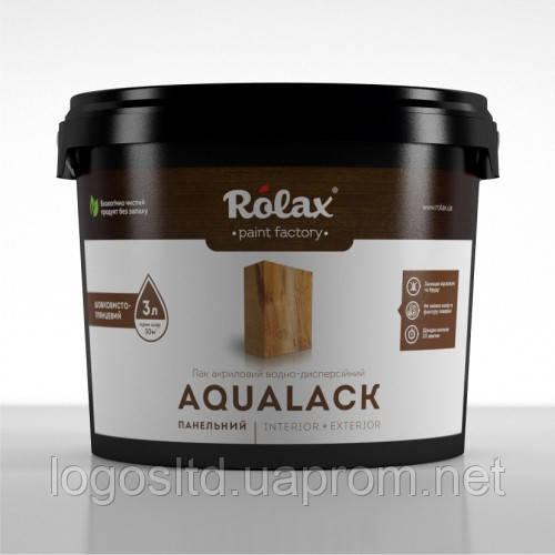 Лак акриловый  «Аквалак» 1 л  без запаха полуглянец Rolax