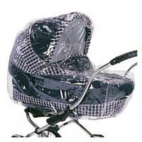 Дождевик из ПВХ на детскую коляску, с окошком