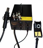 Паяльна станція термоповітряна Lukey 852 комбінована, турбінна, з паяльником