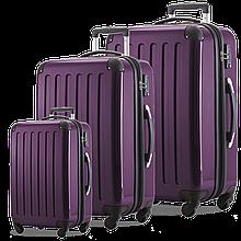Набор чемоданов HAUPTSTADTKOFFER alex set violet