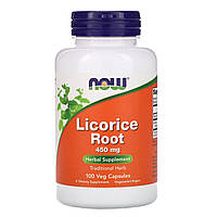 Корень солодки (Licorice Root), Now Foods, 450 мг, 100 капсул