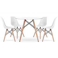 Стол со стульями для кухни /гостиной BARDO 957 Белый