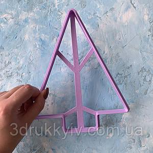 Вирубка ТОРТ - Ялинка #3 16 см. / Вырубка - формочка для торта, коржей / Торт - Елка