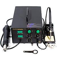 Паяльна станція термоповітряна Lukey 852D+FAN, комбінована, турбінна, з паяльником