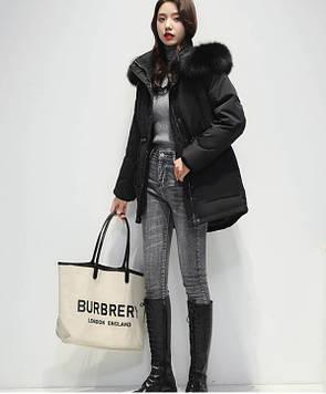 Куртка женская зимняя черного цвета
