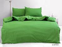 Однотонные комплекты постельного белья из ренфорс Зеленый, разные размеры