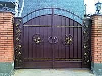 """Ворота с кованым виноградом. Ручная ковка. Покраска с гарантией супер качественной эмалью """"Hammerite""""."""