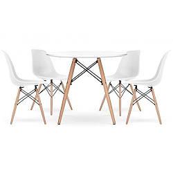 Стол обеденный со стульями для кухни /гостиной  BARDO 957 White