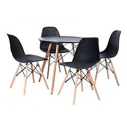 Стол обеденный со стульями для кухни /гостиной  BARDO 957 Black