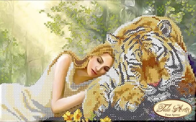 """Рисунок на ткани для вышивания бисером """"Полуденный сон"""", фото 2"""