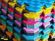 """Мат-татамі Ланор """"ластівчин хвіст"""" 80 кг/м3 20мм зелено-жовті Т1, фото 4"""