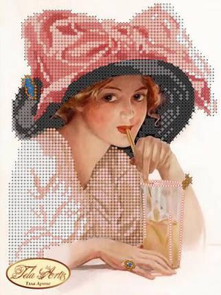 """Рисунок на ткани для вышивания бисером """"Кокетка"""", фото 2"""