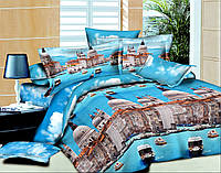 АКЦИЯ!Евро комплект постельного белья Архитектура Венеции