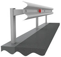 Ограждение дорожное односторонние металлическое оцинк. барьерного типа 11ДО 2 барьерное ограждение