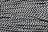 Шнур 5мм с наполнителем (100м) белый + черный