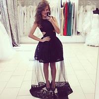 Женское шикарное платье в пол с подъюбником