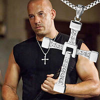 Крест Доминика Торетто (Вин Дизель) на цепочке, кулон – крестик с Форсажа