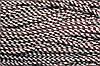 Шнур 5мм с наполнителем (100м) белый + коричневый (шоколад)