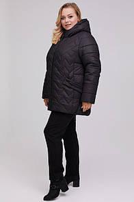 Подовжена стьобаний курточка з водовідштовхувальним плащової тканини 52-68 розмір микропух слімтекс