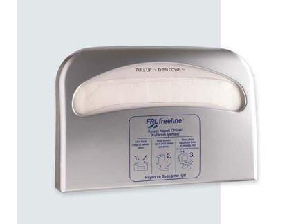 Диспенсер для одноразових паперових сидінь на унітаз АБС пластик, 9301 сірий металік