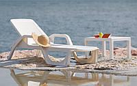 Лежак NILO, Италия -  белый, фото 1