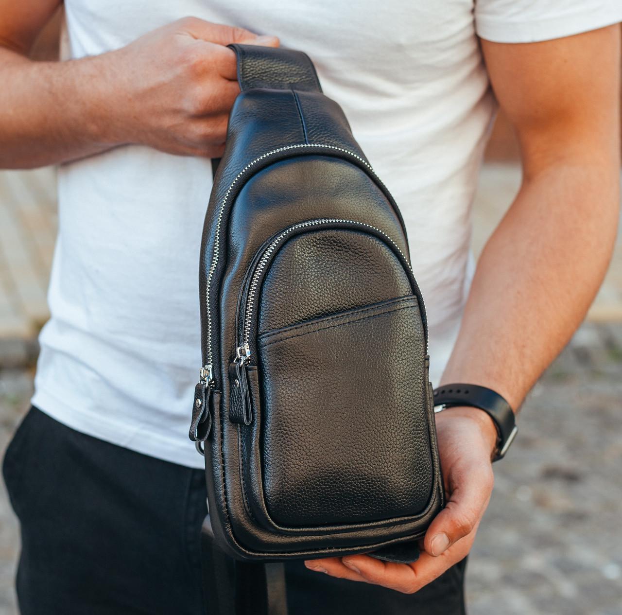Чоловічий шкіряний рюкзак Keizer K18693-black