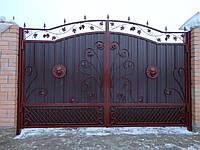 Ворота с коваными львами