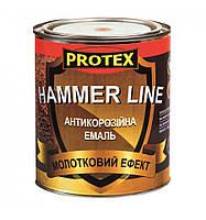 Эмаль молотковая HAMMER LINE (0,75кг)  ТМ PROTEX
