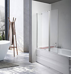 Скляна шторка для ванни AVKO Glass A542-1 30+50x140 Clear