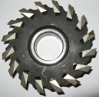Фреза торцевая ф 100 мм со вставными рифленными ножами Р6М5