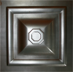 Филенка металлическая 250*250