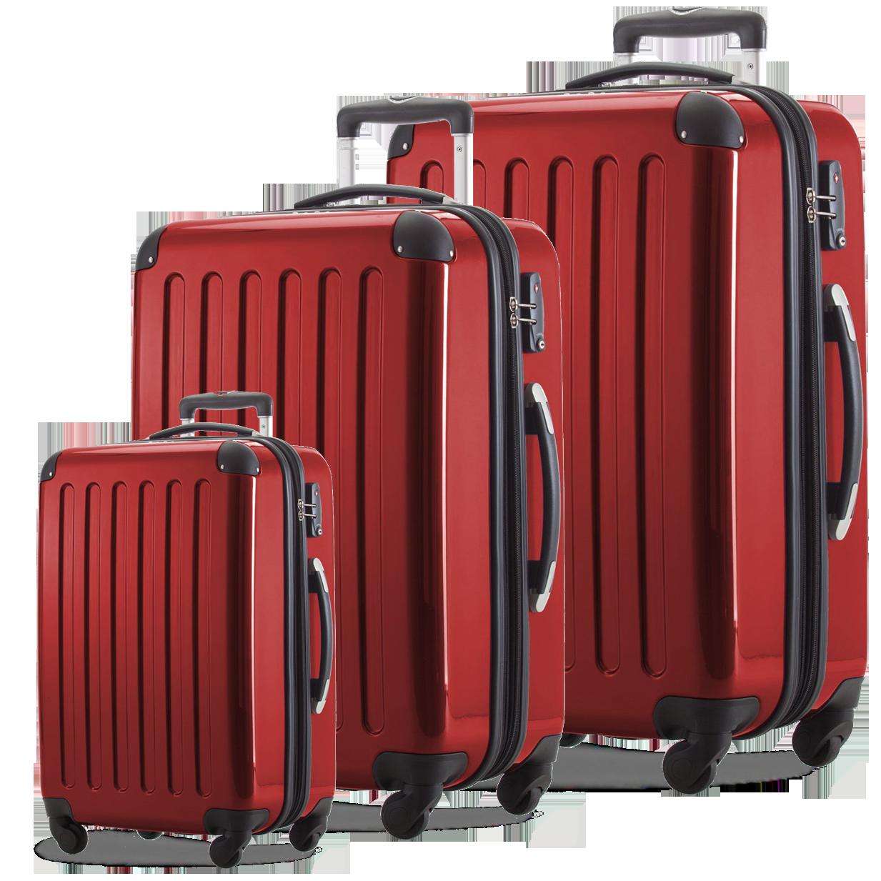 Комплект чемоданов HAUPTSTADTKOFFER alex set red