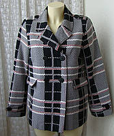 Пальто женское легкое жакет модный хлопок бренд Balsamik  р.46 5228