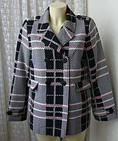 Пальто женское легкое жакет модный хлопок бренд Balsamik  р.46 5228, фото 1