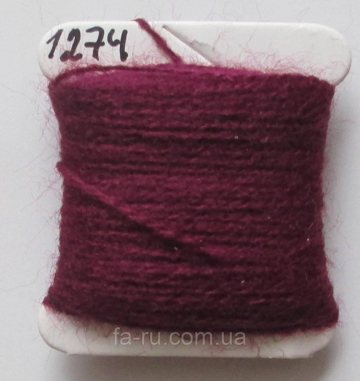 Акрил для вышивки: тёмный пурпурно-красный
