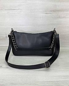 Жіноча сумка «Луна» чорна