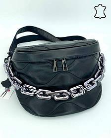 Шкіряна сумка оптом «Pegy» чорна