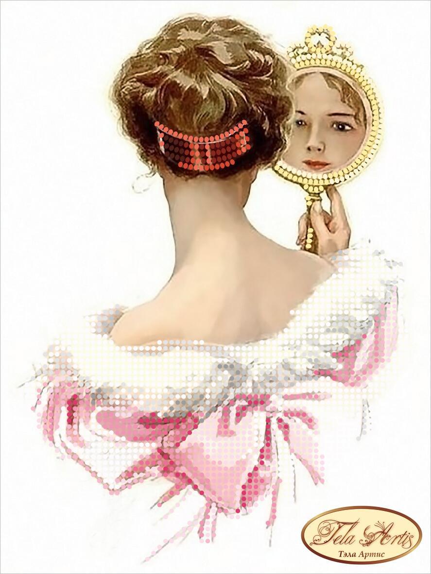 """Рисунок на ткани для вышивания бисером """"Жаклин"""""""