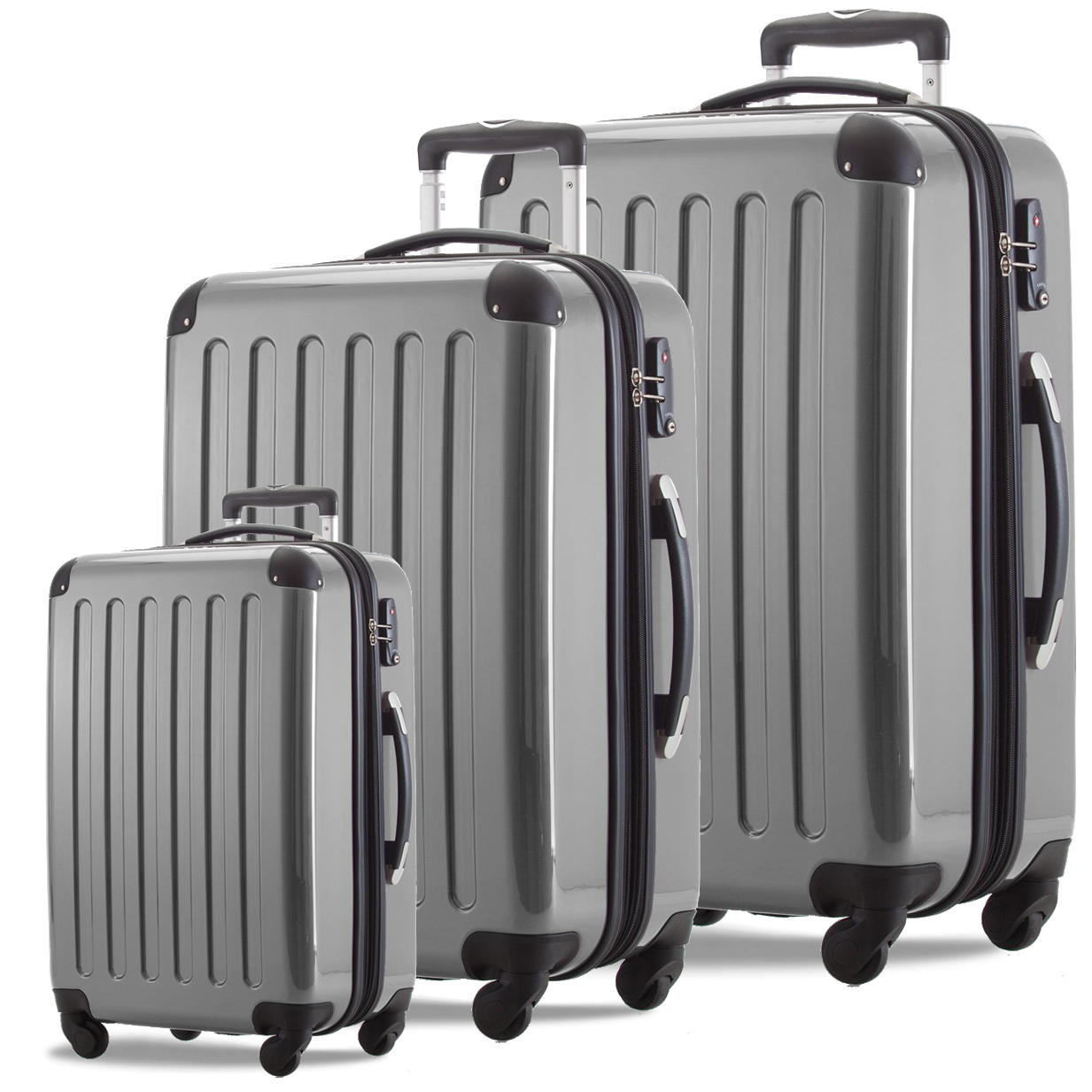Набор пластиковых чемоданов HAUPTSTADTKOFFER alex set